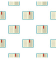 open tutorial with bookmark pattern flat vector image vector image