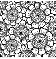 Ornate floral pattern with flowers Doodle sharpie vector image vector image