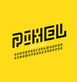 pixel art style font design vector image vector image