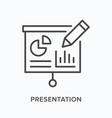 presentation flat line icon outline vector image