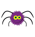 purple spider on white background vector image vector image