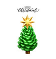realistic pine cone christmas new year vector image
