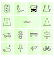 road icons vector image vector image