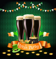 saint patricks irish party composition vector image vector image