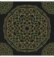 Seamless pattern gold mandala vector image vector image