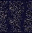 seamless pattern of black and white style flowers vector image