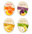 set of labels of berries and fruit plum vector image vector image
