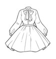 set womens clothing beautiful shirt vector image