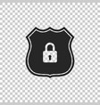 shield security icon on transparent background vector image vector image
