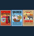 spain history travel and culture vector image vector image