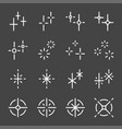 sparkle icon set vector image vector image