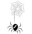 Spider and a Web vector image vector image