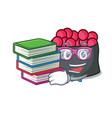 student with book ikura mascot cartoon style vector image vector image
