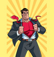 superhero under cover suit 2 vector image vector image