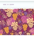 Sweet grape vines horizontal torn border seamless vector image vector image