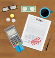 tax paid document vector image vector image
