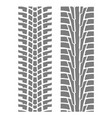 two seamless tyre tracks patterns - wheel tire vector image vector image