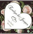 valentine greeting invite card style herbs vector image vector image