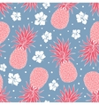 Vintage pineapple seamless pattern vector image vector image