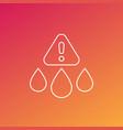water contamination line icon vector image vector image