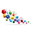 cubes in various combinations abstract for design vector image