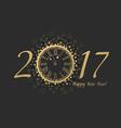 New Year Clock 2017 vector image