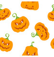 pattern color pumpkins vector image