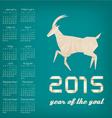 2015 year goat calendar vector image vector image