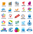 biggest collection of logos accounting report vector image