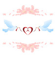 birds and ribbon vector image