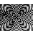 Black concentric circles grungy vector image vector image