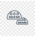 bun concept linear icon isolated on transparent vector image