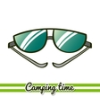 Camping Equipment Sunglasses vector image vector image