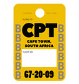 cape town airport luggage tag