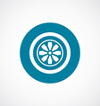 car wheel icon bold blue circle border vector image vector image