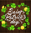 card for st patricks day vector image vector image