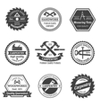 Carpentry emblems set vector image vector image