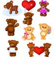 cartoon babears collection set vector image vector image