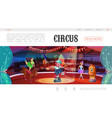 cartoon circus web page template vector image vector image
