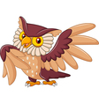 Cartoon funny owl bird posing vector image vector image