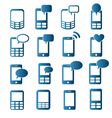 cell phones icons vector image vector image
