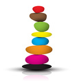 Colorful Zen Stones - Pebbles Heap Isolated on vector image vector image