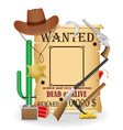 cowboy wild west concept icons vector image vector image