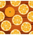 Cute seamless pattern with orange slices vector image vector image