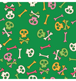 Cute seamless pattern with skulls vector image vector image