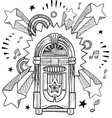 doodle pop jukebox music vector image vector image
