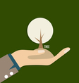 ECO FRIENDLY Ecology concept with hand and tree vector image vector image