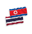 flags north korea and thailand on a white vector image