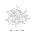floral bouquet for save the date wedding vector image vector image