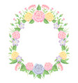 floral frame watercolor style template decoration vector image vector image